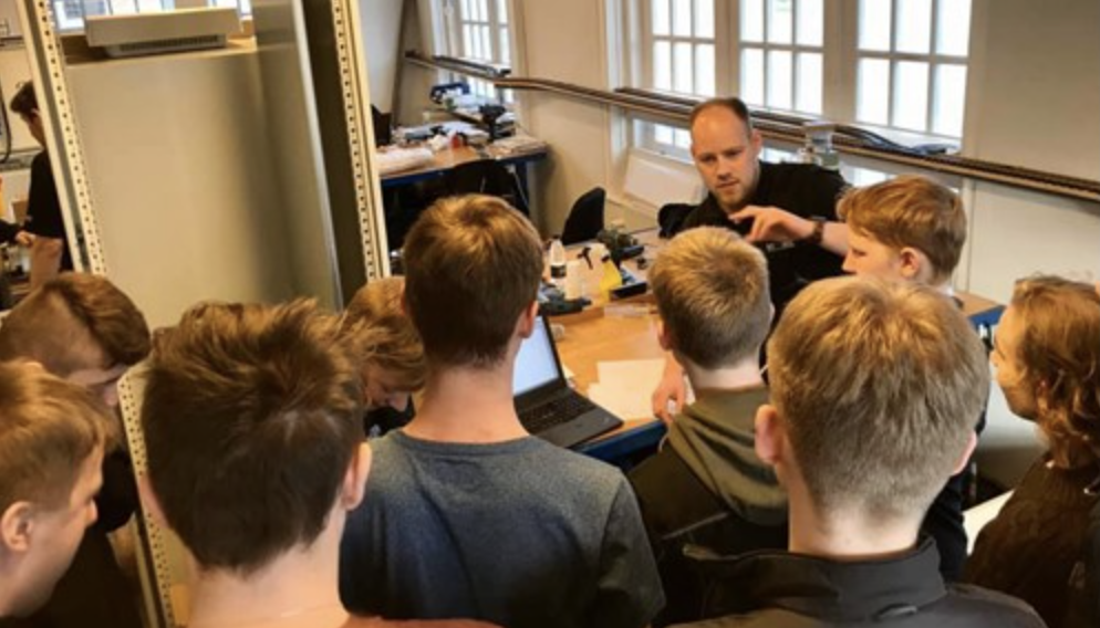 Samarbejde mellem Trimatic og Friskolen Østerlund omkring skoleprojekt